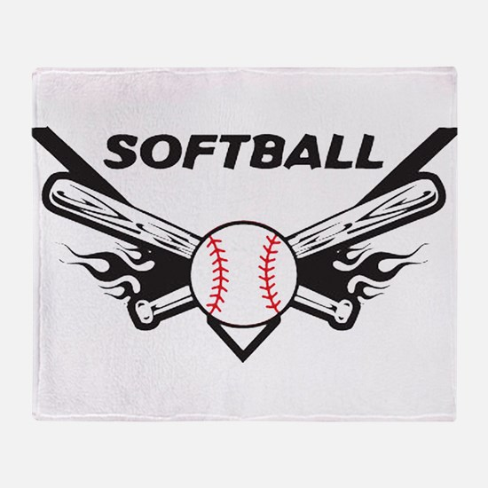Softball Throw Blanket