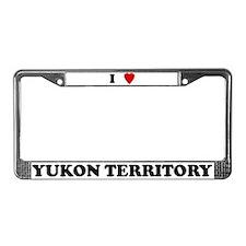 I Love Yukon Territory License Plate Frame