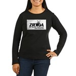 ZRXOA Women's Long Sleeve Dark T-Shirt