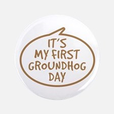 "Baby's First Groundhog Day 3.5"" Button (100 pack)"