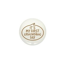 Baby's First Groundhog Day Mini Button (10 pack)