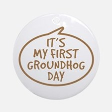 Baby's First Groundhog Day Ornament (Round)