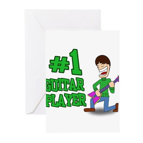 #1 Guitar Player Greeting Cards (Pk of 20)