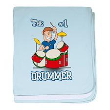 The #1 Drummer baby blanket