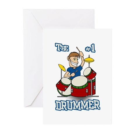 The #1 Drummer Greeting Cards (Pk of 10)