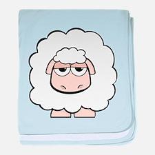 Funny Cartoon sheep baby blanket