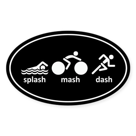 Splash Mash Dash Sticker (Oval)