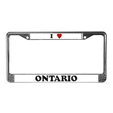 I Love Ontario License Plate Frame