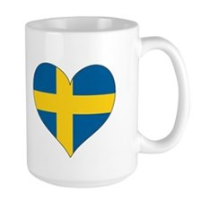 Flag in Heart Mug