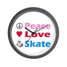 Peace Love Skate Wall Clock