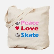 Peace Love Skate Tote Bag