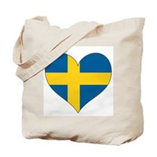 Flag in Heart Tote Bag