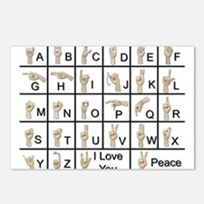 Ameslan Alphabet Postcards (Package of 8)
