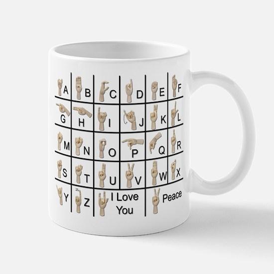 Ameslan Alphabet Mug