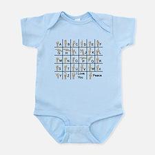 Ameslan Alphabet Infant Bodysuit