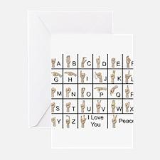Ameslan Alphabet Greeting Cards (Pk of 20)