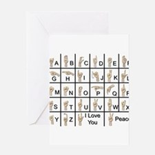 Ameslan Alphabet Greeting Card