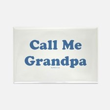 Call Me Grandpa Rectangle Magnet