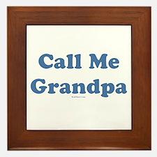 Call Me Grandpa Framed Tile