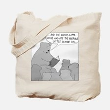 Bear Story Time (No Text) Tote Bag