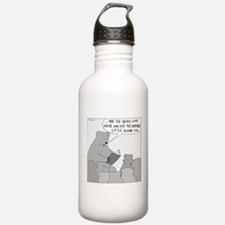 Bear Story Time (No Text) Water Bottle