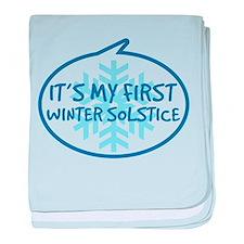 Baby's First Winter Solstice baby blanket