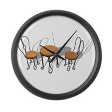Bistro Setting Large Wall Clock