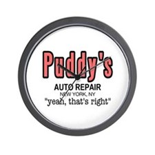 Puddy's Auto Repair Seinfield Wall Clock