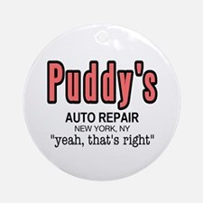 Puddy's Auto Repair Seinfield Ornament (Round)