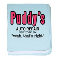 Puddy's Auto Repair Seinfield baby blanket