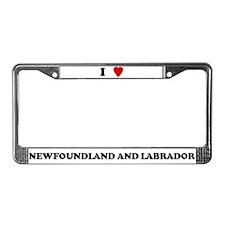 I Love Newfoundland And Labra License Plate Frame