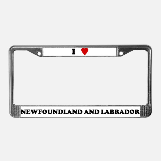 I Love Newfoundland And Labra License Plate Frame