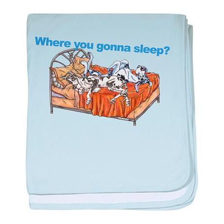 NCH Where you gonna sleep baby blanket