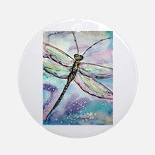 Dragonfly, Beautiful, Ornament (Round)