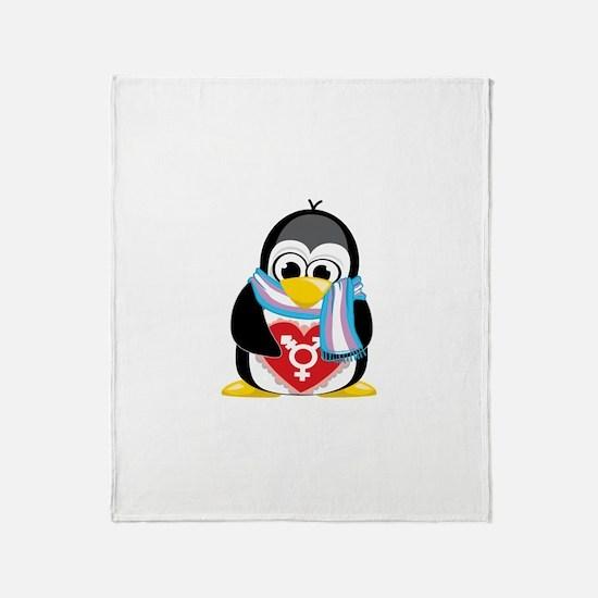 Transgender Penguin Throw Blanket