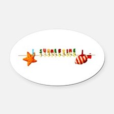 summer time Oval Car Magnet