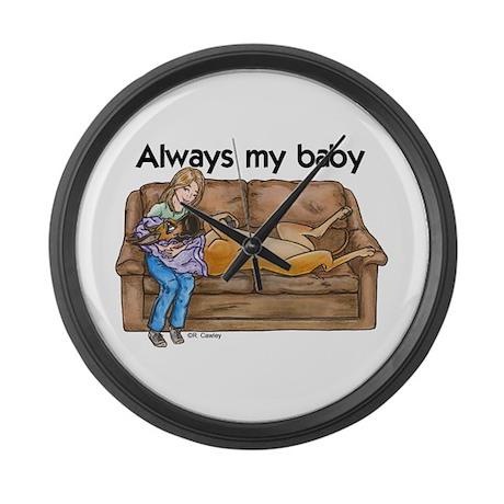 CF Always my baby Large Wall Clock