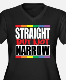 Straight But Not Narrow Women's Plus Size V-Neck D