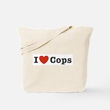 I Love Cops Tote Bag
