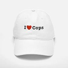I Love Cops Baseball Baseball Cap