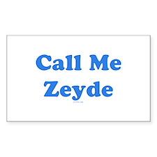 Call Me Zeyde Jewish Decal