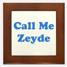 Call Me Zeyde Jewish Framed Tile