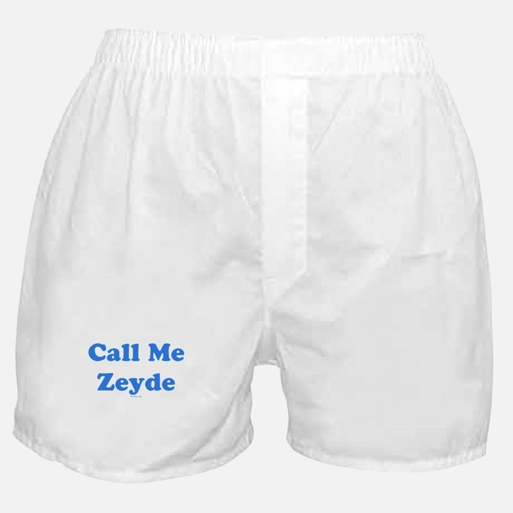 Call Me Zeyde Jewish Boxer Shorts