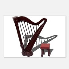 Harp and Bench Postcards (Package of 8)