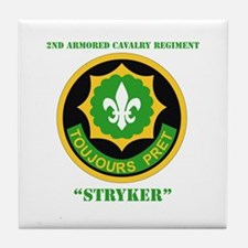 SSI - 2nd ACR(Stryker) with Text Tile Coaster