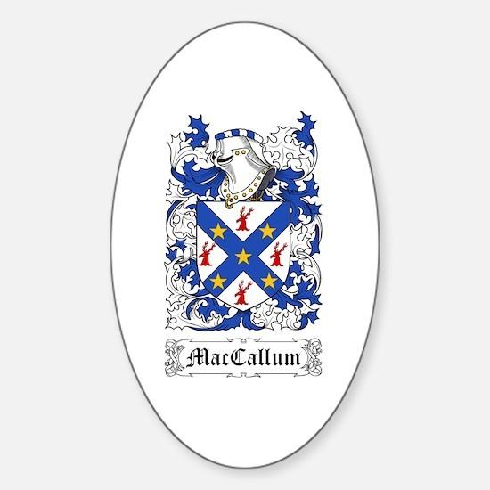 MacCallum Sticker (Oval)