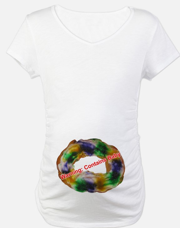 King Cake Maternity Shirt (with text)