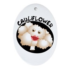 Cute Cauliflower Ornament (Oval)