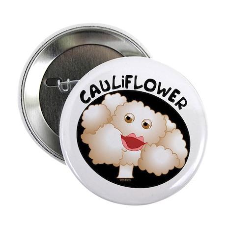 """Cute Cauliflower 2.25"""" Button (100 pack)"""