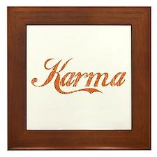 Karma Framed Tile